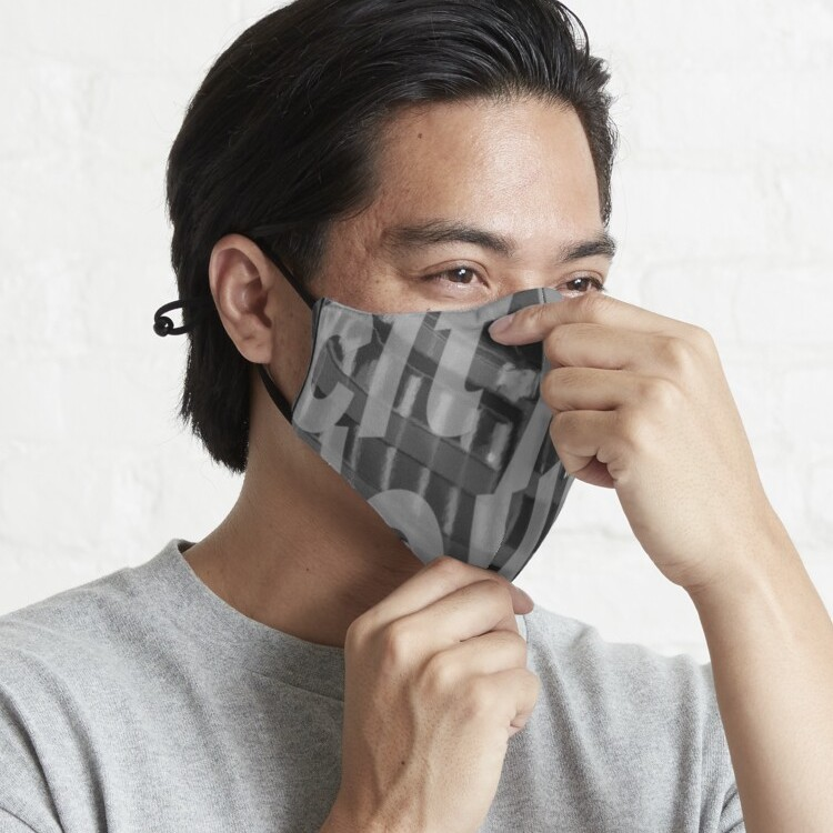 Premium face-fitting mask with quality construction and vibrant print