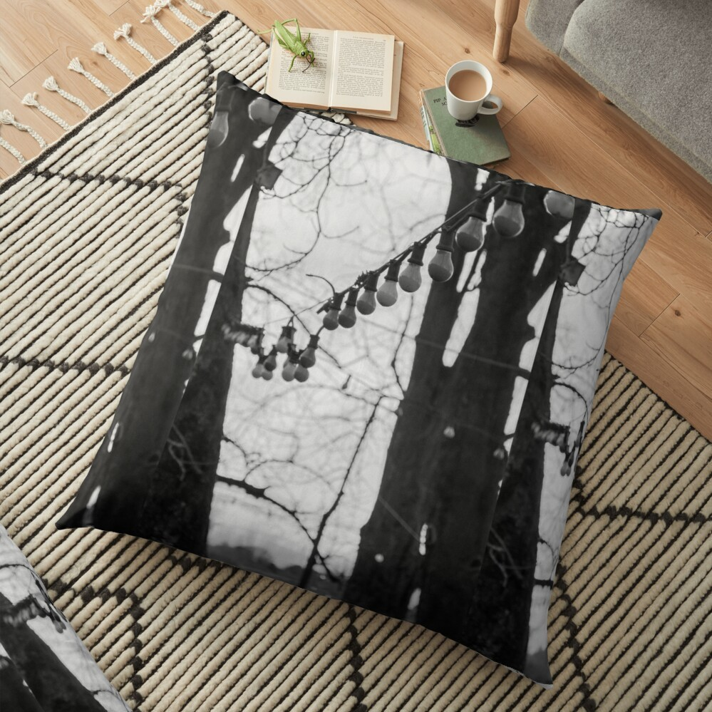 Vibrant double-sided print floor pillows are a versatile seating or lounging option that will update any room
