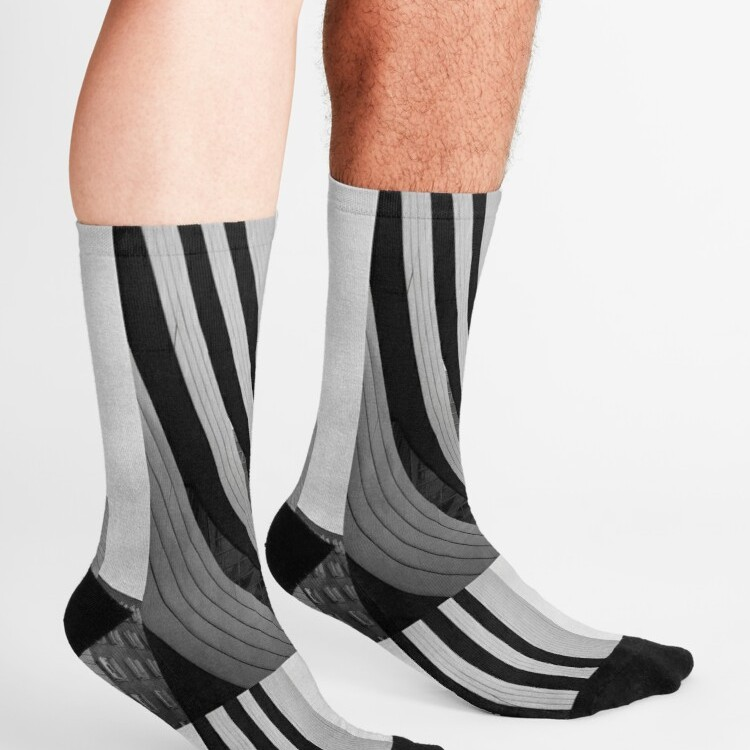 Super soft and stretchy knit crew socks